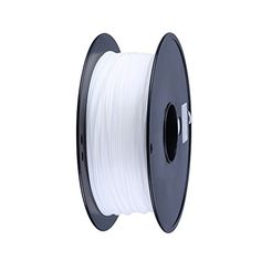 Borlee1.75mm PLA 3D Printer Filament, Dimensional Accuracy  /- 0.05 mm,1 kg Spool(White) *** Continue to the product at the image link.