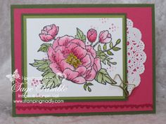 Make a Handmade Birthday Card with Birthday Blooms stamp set from Stampin' Up!  http://stampingmadly.com/?p=4680» Stamping Madly