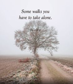 Some walks you ...