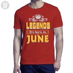 Belinto - Unisex Legends Are Born In June - Made In June Perfect Funny Birthday Cool Vintage Gifts Ideas District Unisex T-Shirts (Red Size Large) - Birthday shirts (*Amazon Partner-Link)