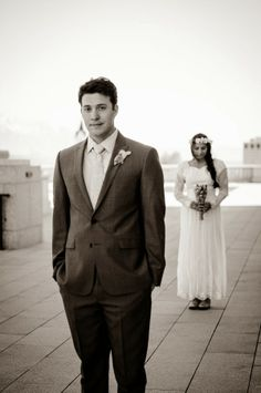 His First Look at the Wedding Dress