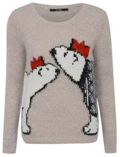 Pin for Later: Deck Yourself With Boughs of Holly For Christmas Jumper Season George Christmas Eyelash Polar Bear Jumper George Christmas Eyelash Polar Bear Jumper (£12)