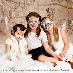 Children's Woodland Creatures Party Masks by WonderfulCollective
