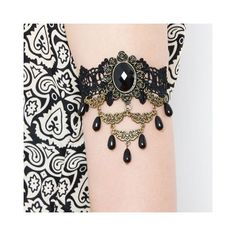 Vintage Lace Faux Gem Beads Pendant Bracelet ($4.29) ❤ liked on Polyvore featuring jewelry, bracelets, gemstone bangle, gemstone jewellery, bead jewellery, pendant jewelry and artificial jewelry