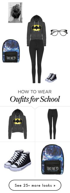 School by unicornlover17 on Polyvore featuring Topshop, ZeroUV and Disney