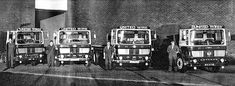 Four Lorries bellonging to United Wire Works, Granton Park Avenue, Granton Old Lorries, Park Avenue, Old Trucks, Edinburgh, Vintage Cars, Bench, British, Vans, Wire