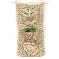 Handmade hanging air plant displays .