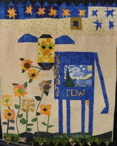 """Mary Mac Neill's """"Van Gogh's COW"""" quilt"""