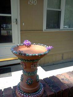 Flower Pot  Bird Bath