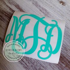 A personal favorite from my Etsy shop https://www.etsy.com/listing/231110144/vine-monogram-vinyl-decal