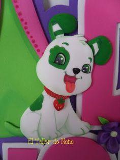 Pastelito de Fresita en Foami - Molde Papillon Dog, Punch Art, Strawberry Shortcake, Diy For Kids, Yoshi, Helpful Hints, Stampin Up, Pikachu, Projects To Try