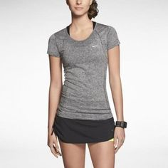 nike dri-fit knit short sleeve t-shirt - women's - Buscar con Google