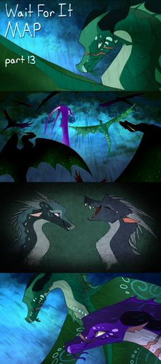 Wait For It by Verasaii on DeviantArt Dragon Comic, Dragon Art, Wings Of Fire Dragons, Fire Fans, Mythical Creatures, Fairytale Creatures, Fire Book, Httyd, Spirit Animal