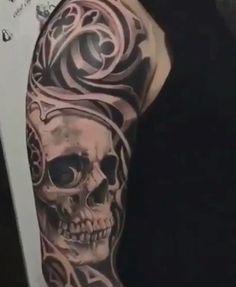 Inner Forearm Tattoo, Forearm Tattoos, Body Art Tattoos, Cool Tattoos, Cow Skull Tattoos, Skull Sleeve Tattoos, Bholenath Tattoo, Tattoo Quotes, Punisher Skull Tattoo