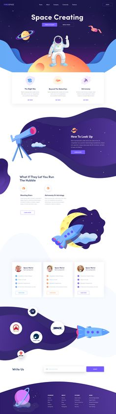 Landing Page Design A new concept landing for cosmos admirers. ThruSpace Landing by Afterglow Personal Website Design, Best Website Design, Website Design Inspiration, Layout Inspiration, Website Designs, Website Ideas, Design Sites, Food Web Design, Web Design Tips