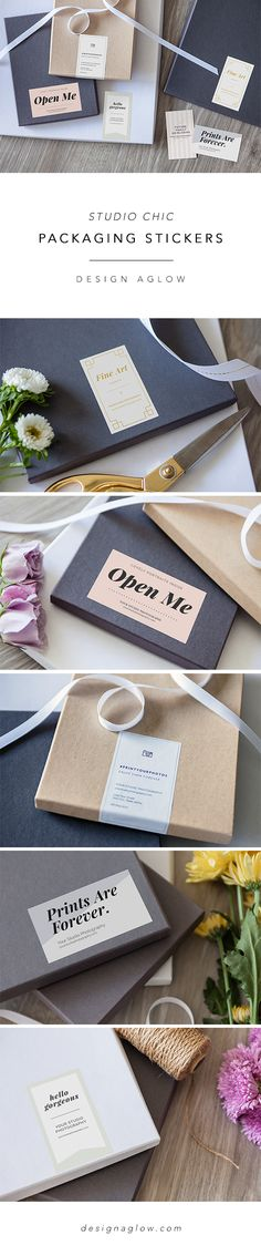 Design Aglow: Studio Chic Packaging Stickers