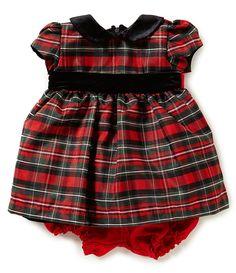 6273bc59d Jayne Copeland Baby Girls 3-24 Months Christmas Plaid Dress #Dillards Baby  Girl Holiday