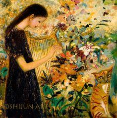 My Spiritual Garden ~www.shijunart.com  http://fineartamerica.com/profiles/shijun-munns.html  www.facebook.com/shijunart  #painting
