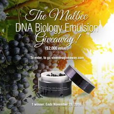 Malbec DNA Biology Emulsion Capsules Giveaway ($2,000 value)