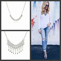 Inspired Style. Doesn't this Street Style with a hint of Spring make you smile? Get the Look with our either of these fun Necklaces from our Ballerina Collection. Wear one or both for an easy way to change up your favorites looks. #eSBeDesigns #jewelry #getthelook #streetstyle #designer #fashionista #hellobeautiful #WOWFactor  (photo: Pinterest) SHOP: www.esbedesigns.com/Pam ID#246237