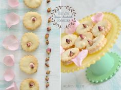 These cookies burst with rose petal flavors. I love rose flavor; it is feminine, exotic and pretty. I am in love with food associates ...