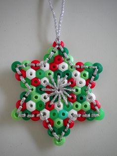 kerstster maken kralen