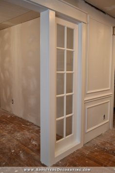 stationary built-in french door room separating panels - interior sidelights - 3