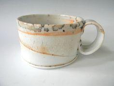 Hand Built Porcelain Cappucino Cup  Simple Curve by lbcooper, $24.00