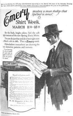 Mens fashion from The Clothier and Furnisher. 1920