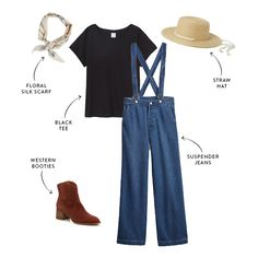 6 Cute and Mom-Approved Road Trip Outfits   The Everymom Road Trip Outfit, Cool Graphic Tees, Suspender Jeans, Denim Jacket With Dress, Maternity Pants, Maternity Tops, Maternity Fashion, Maternity Dresses, Silk Bandana