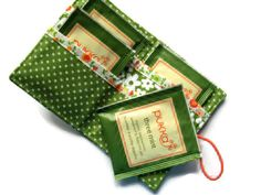 Lime Green Tea Bag Wallet Holder for Tea Bags by moodycowdesigns, £6.00 I have a friend who needs this!