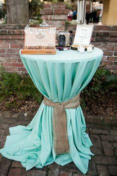 Cigar bar for the men! Such a cute idea! #wedding #cigar #bride #bridal #reception