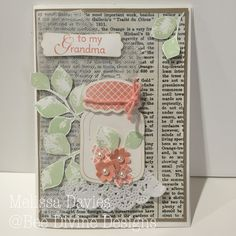 Bee Divine Designs - a card for my grandmother for mothers day - some retired sets in here.