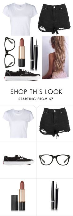 """Outfit #33"" by unicornicamitha on Polyvore featuring RE/DONE, Boohoo, Vans, Estée Lauder and Chanel"