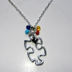 Autism Awareness Charm Necklace by CloudNineDesignz on Etsy, $20.00