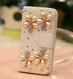 Free Shipping Flower  flip wallet Leather case for by YYwholesale, $15.99