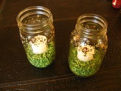 Green, Inspiration, Board, Jar, Painted, Mason