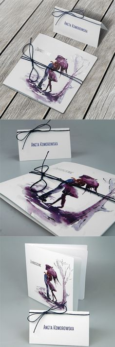 wedding cards, invitation, comics motive, design, couple, tree, purple