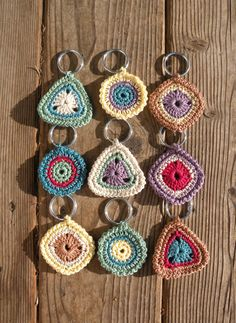 Crochet Keyrings at Sisters for Sunshine Creations! This keyring accessory will contain all your keys...it will also make a great gift!