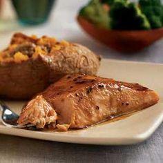 20-Minute Heart-Healthy Meals | Sweet-Spicy Glazed Salmon  | MyRecipes
