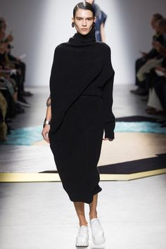 Acne Studios F/W 2014, black turtleneck sweater dress, white sneakers