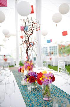 pretty table decor ideas for an outdoor #indian wedding