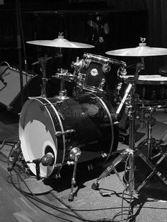 Photo about Mono shot if a drum kit await a concert to start. Image of await, drum, shot - 110644859 Walker Smith, Top Imagem, Vintage Drums, Black Aesthetic Wallpaper, Drum Kits, Aesthetic Collage, Percussion, Rock And Roll, Music Instruments