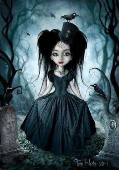 A look at 25 examples of the gothic art of Toon Hertz. A Belgian born artist who combines photography and illustration in Photoshop for bewitching portraits Dark Gothic Art, Gothic Fantasy Art, Dark Fantasy, Pastel Goth Anime, Image Nice, Aquarell Tattoos, Arte Obscura, Goth Art, Creepy Art