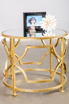 Lydia Table with Mirrored Top