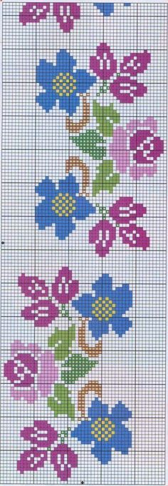 This Pin was discovered by Еле Cross Stitch Borders, Cross Stitch Flowers, Cross Stitch Charts, Cross Stitch Designs, Cross Stitching, Cross Stitch Embroidery, Cross Stitch Patterns, Loom Beading, Beading Patterns