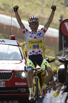 Stage 17: Saint-Gaudens - Saint-Lary-Soulan Pla d'Adet 124.5km - Rafal Majka (Tinkoff-Saxo) wins stage 17 of the Tour de France
