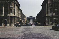 La rue Royale vue depuis la place de la Concorde, en 1962  (Paris 8ème)