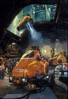 Gurney Journey: Gouache Illustration: Skysweepers
