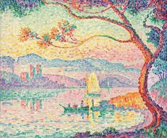 Paul Signac, his works are exquisite! He and Seurat introduced the world to pointalism. The made art bordering a science in the way they played with tiny dots of color.